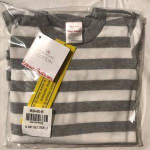 Hanna Andersson Grey Stripe Pajamas